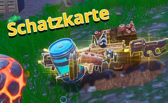 Fortnite Schatzkarte Titel Schatz Loot Kiste Truhe