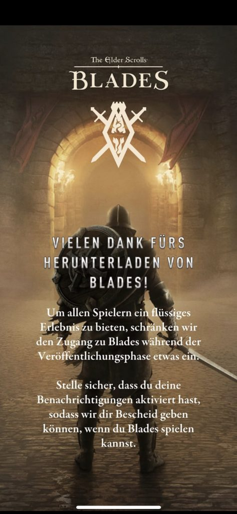 The Elder Scrolls Blades Warteschlangen