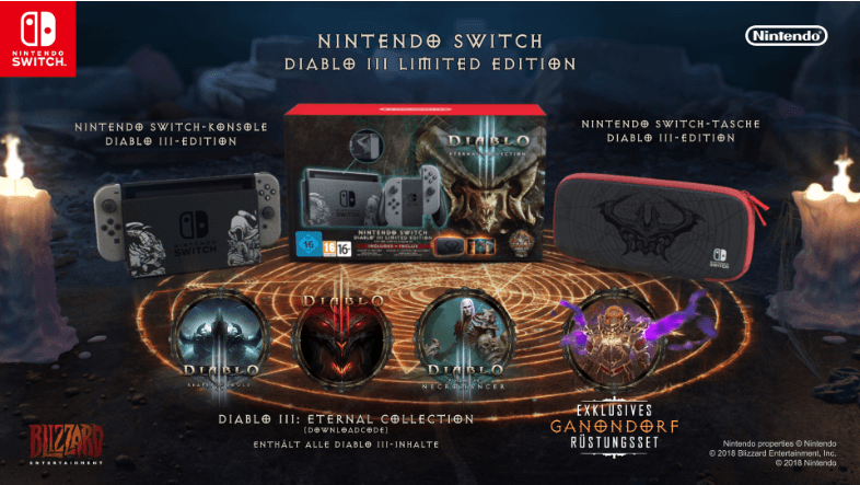 Die Nintendo Switch in der Diablo 3 Edition.