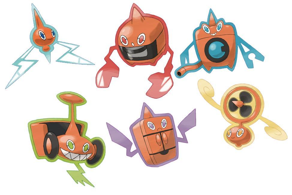 Rotom-Formen Pokemon GO