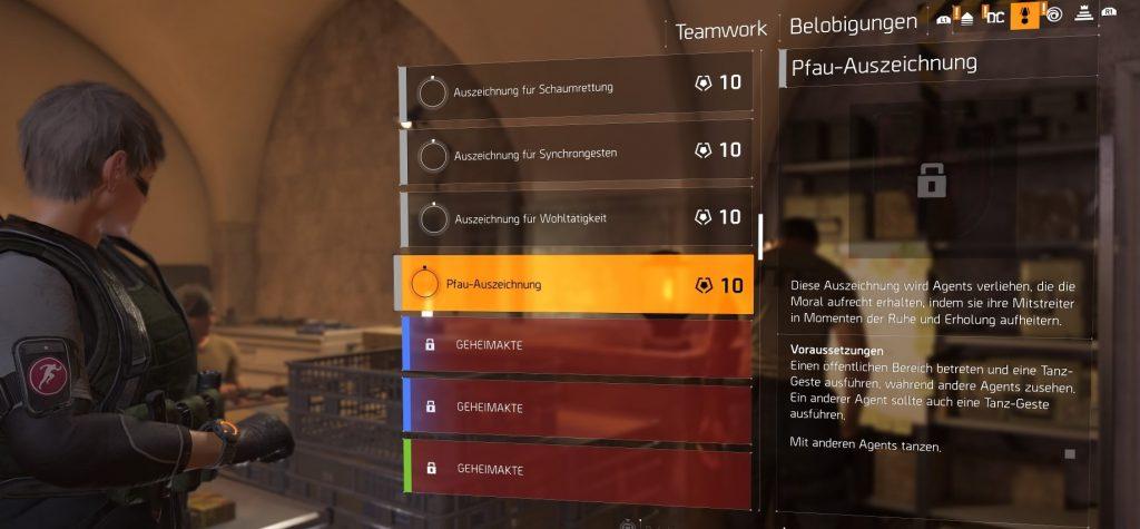 the division 2 belobigungen