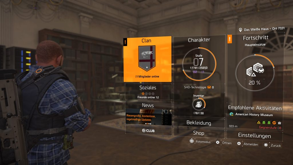 Tom Clancy's The Division® 2 clan menü