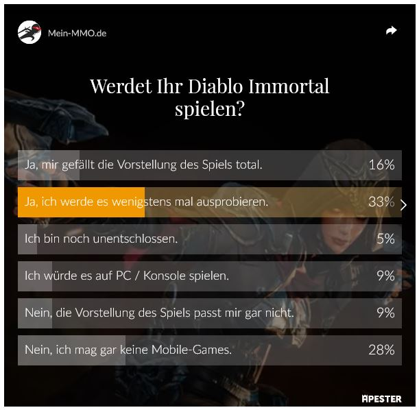 Mein MMO Umfrage Diablo Immortal