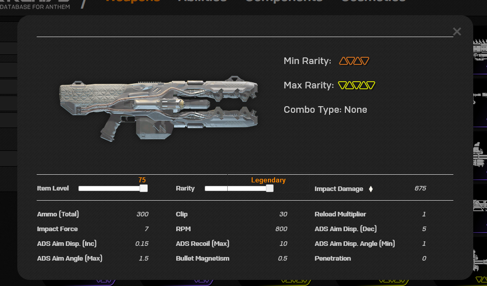Anthem Datamining Beam Rifle Werte