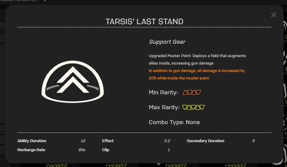 Anthem Datamining Tarsis Last Stand