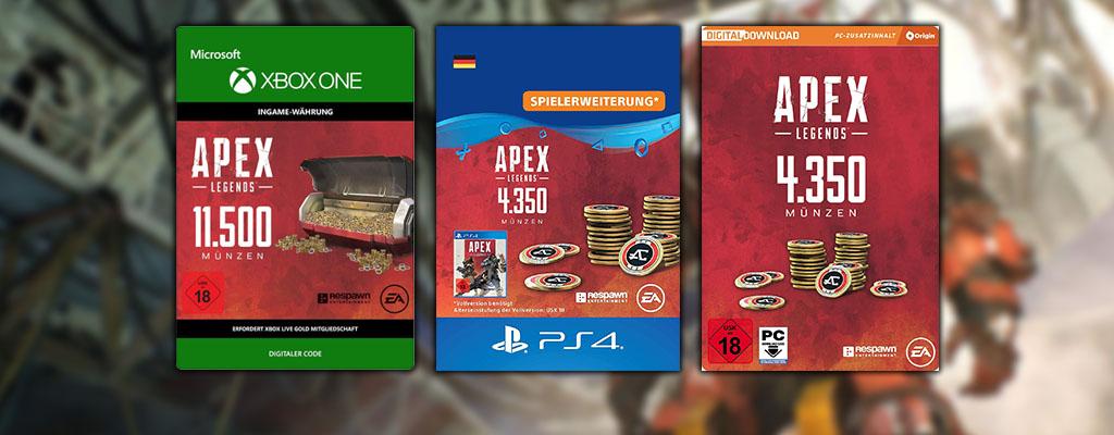 Apex Legends Coins im Angebot bei Amazon deutlich günstiger