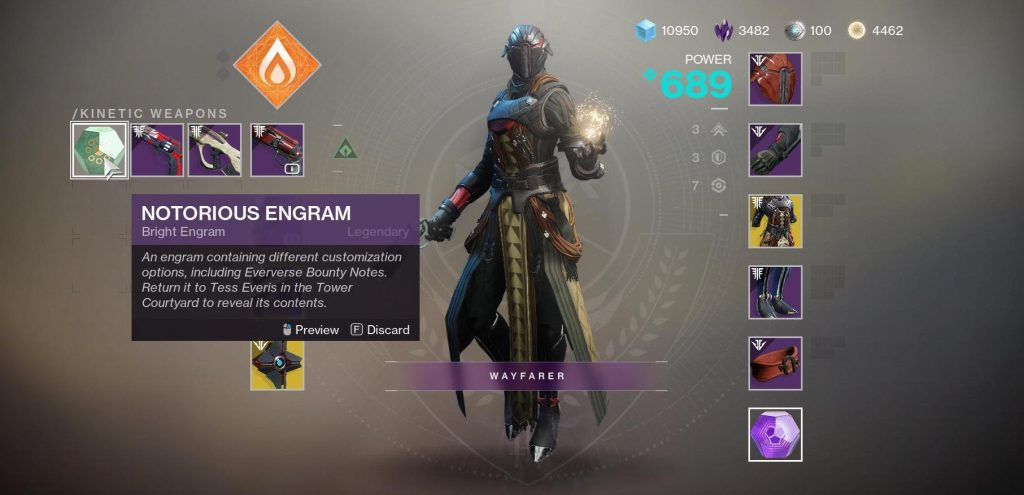 d2 notorious engram