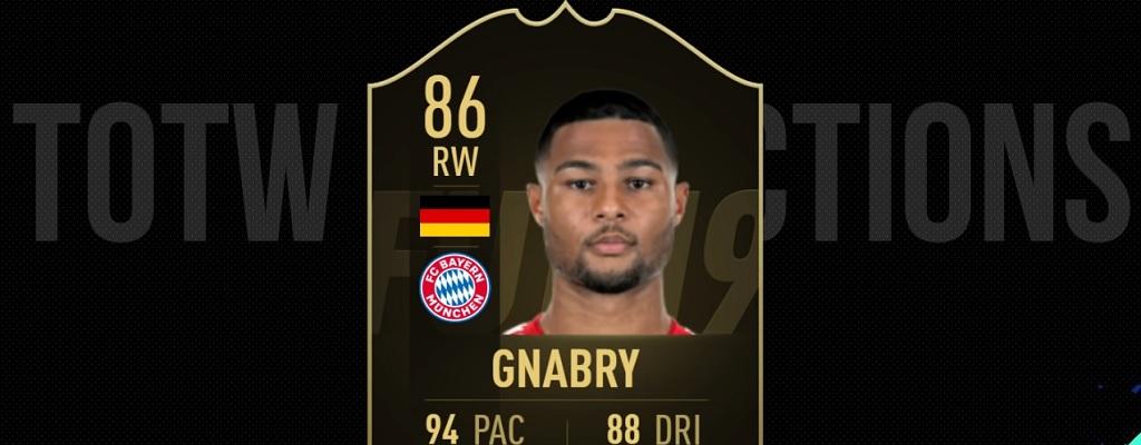 FIFA 19 TOTW 28: Predictions zum Team der Woche 28 mit Serge Gnabry