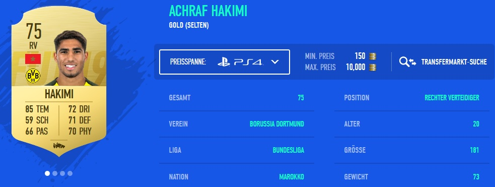 hakimi fifa 19 talent rating
