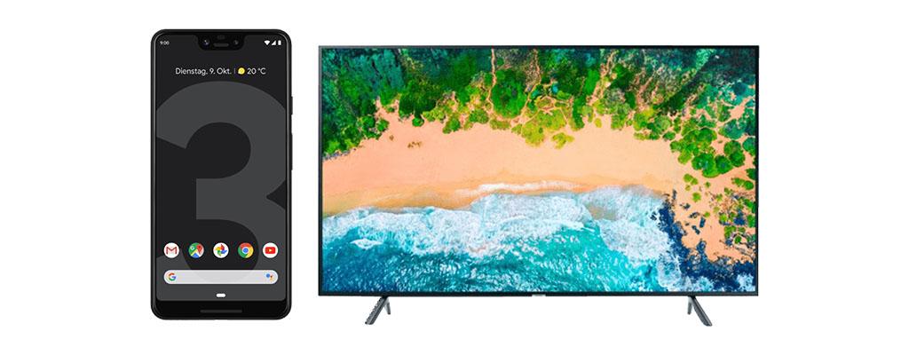 Google Pixel 3 XL und 65 Zoll 4K-TV jeweils zum Spitzenpreis