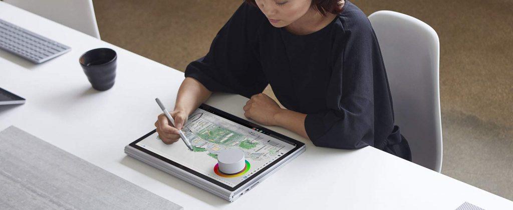 Das Surface Book 2 lässt sich auch als Grafiktablet nutzen.