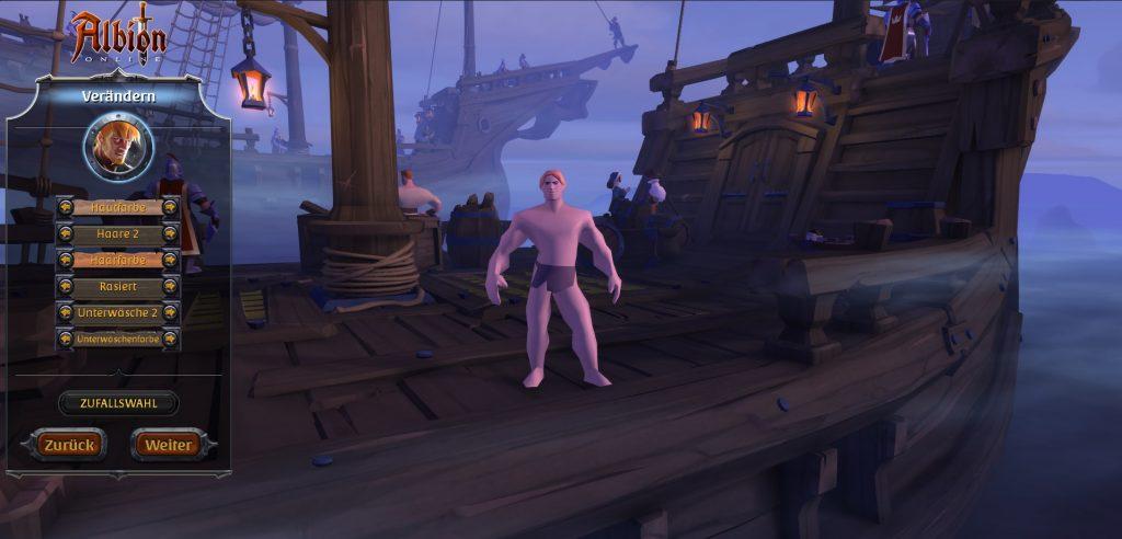Charaktererstellung Albion Online