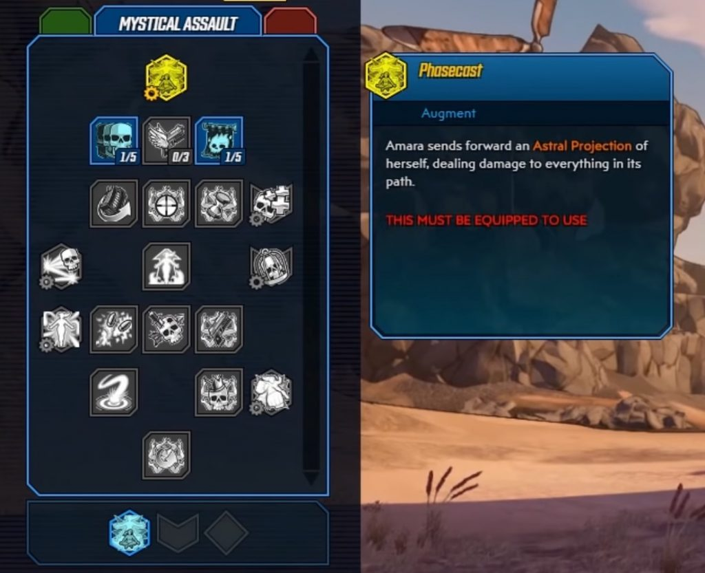 Borderlands 3 Amara Skill Tree Mystical Assault