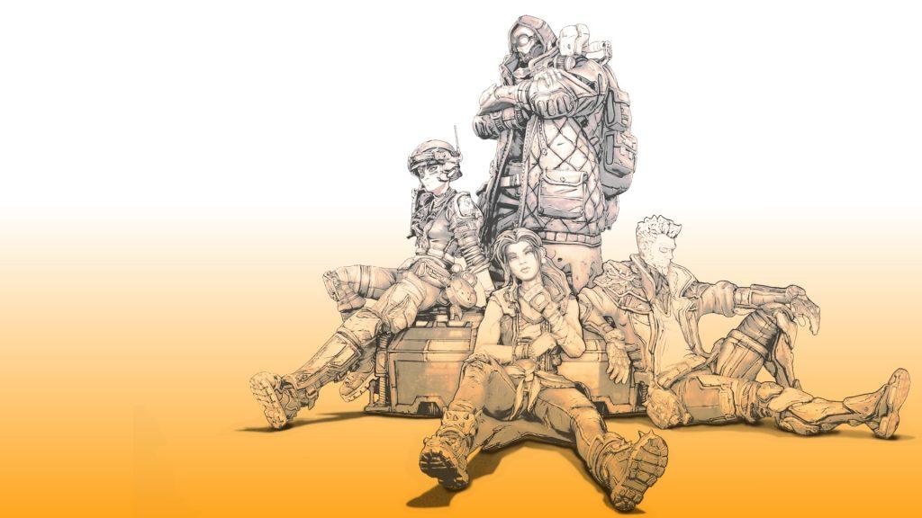 Borderlands Zeichnung Helden 4