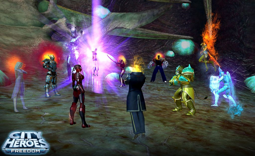 City of Heroes Superhelden