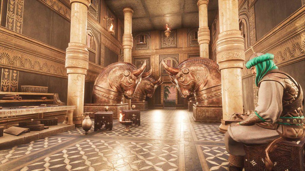 Conan Exiles Turan DLC Prunk gebäude von innen