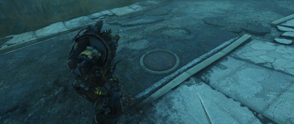 Fallout 76 Die Höhlen Eingang Nord Kanaldeckel