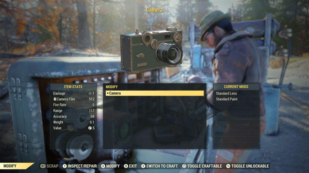 Fallout 76 ProSnap Deluxe Kamera als Item