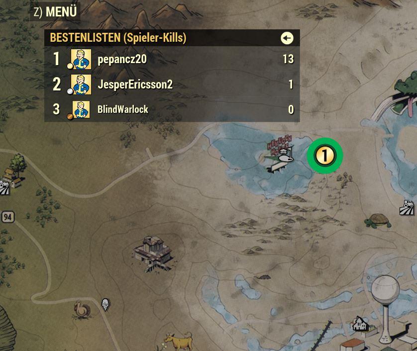 Fallout 76 PvP-Modus Bestenliste