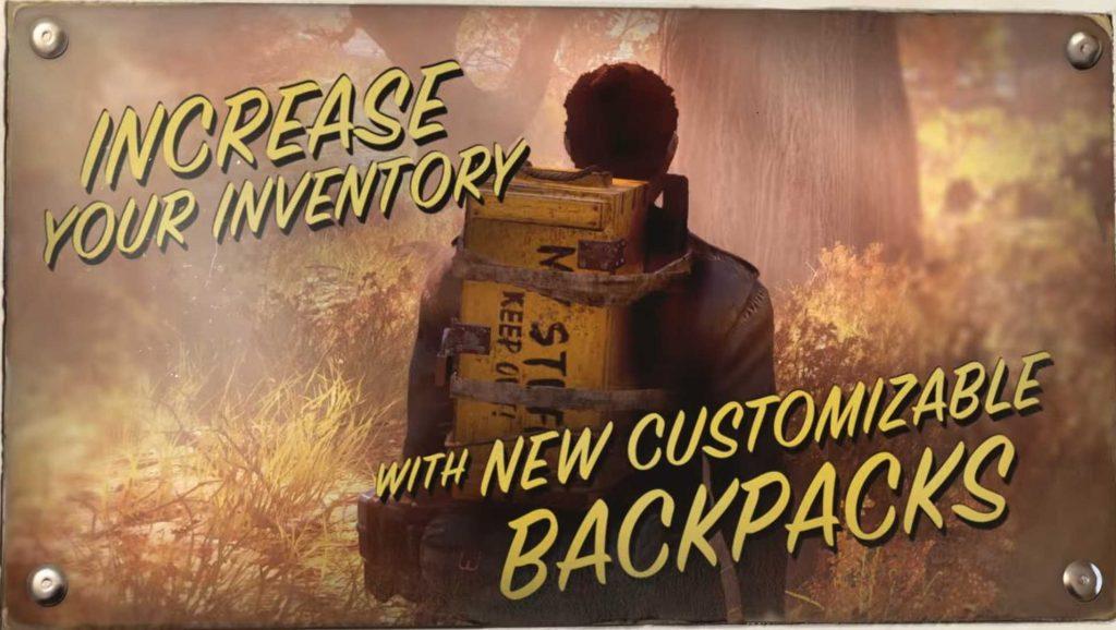 Fallout 76 Rucksäcke aus dem Trailer