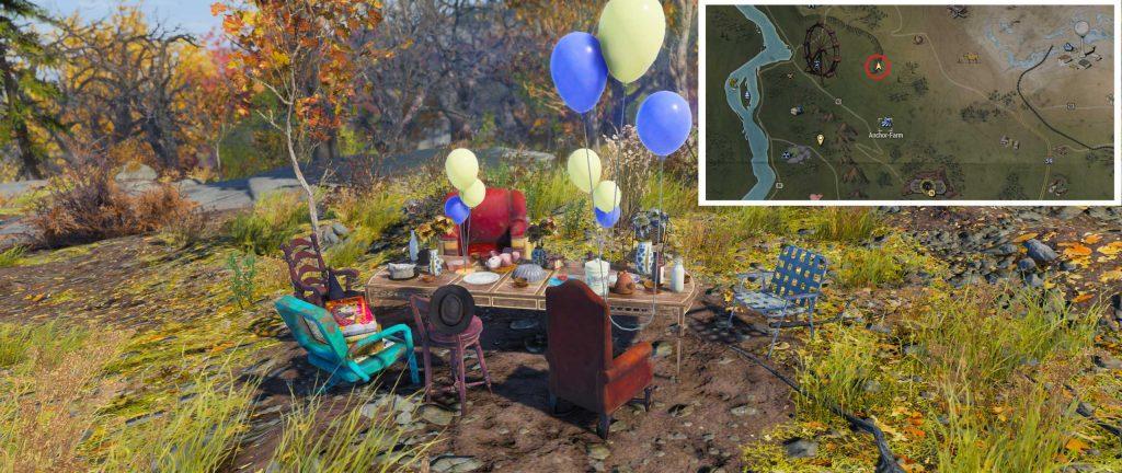 Fallout 76 Verrückter Hutmacher Teeparty mit Fundort