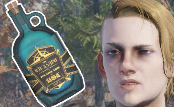 Fallout 76 betrunkene Challenge Titel mit Nukashine