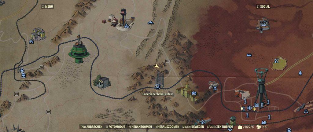 Fallout 76 irgednwo auf der KArte aufgewacht