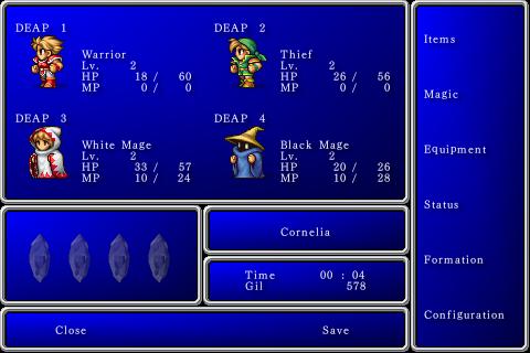 Final Fantasy 1 krieger des lichts