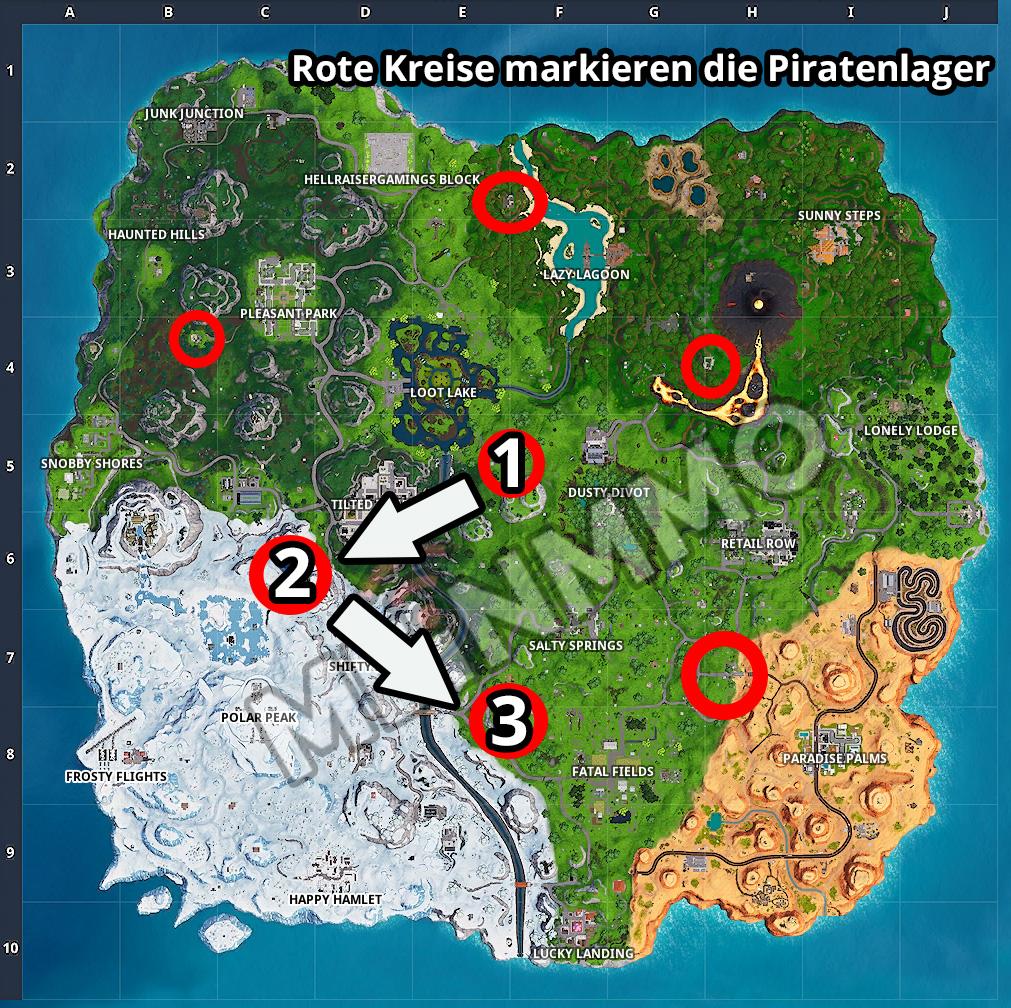 Fortnite Map Piratenlager Season 8 Schnell