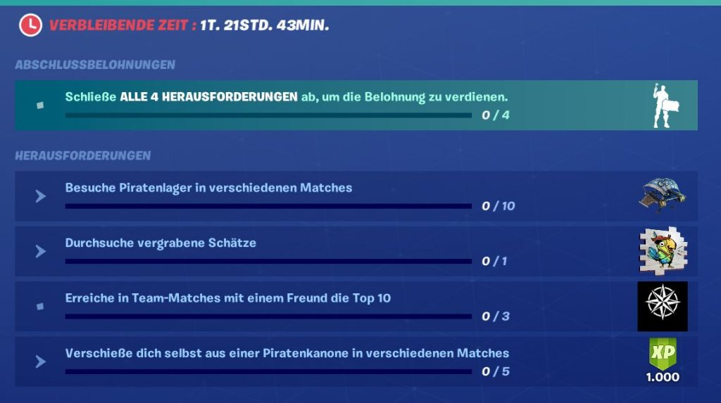 Fortnite Piratenfieber