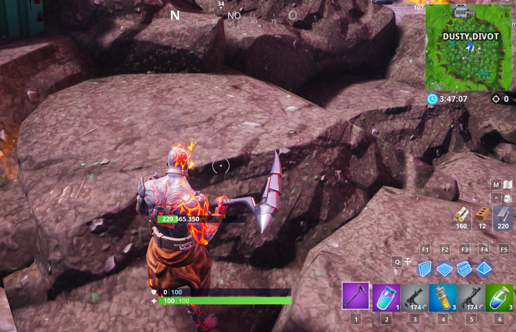 Fortnite Steine Dusty Divot