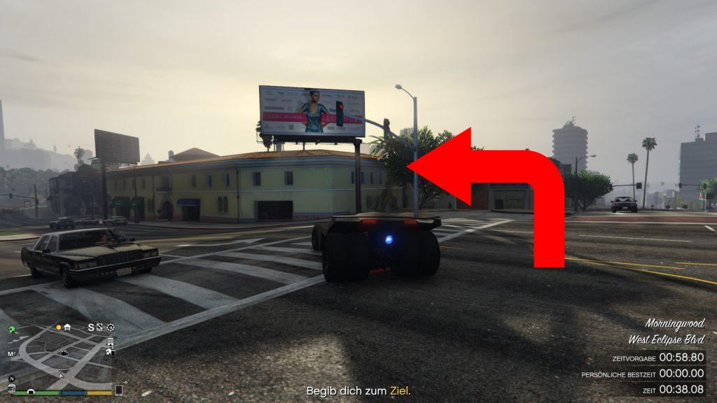 GTA 5 Online Zeitrennen Tongva Valley Abbiegen