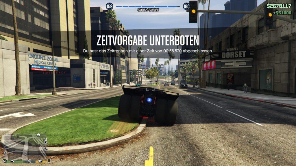GTA 5 Online Zeitrennen Tongva Valley Gewonnen
