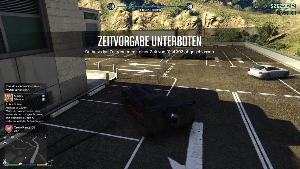 GTA Online Zeitrennen Maze Bank Ziel Gewonnen