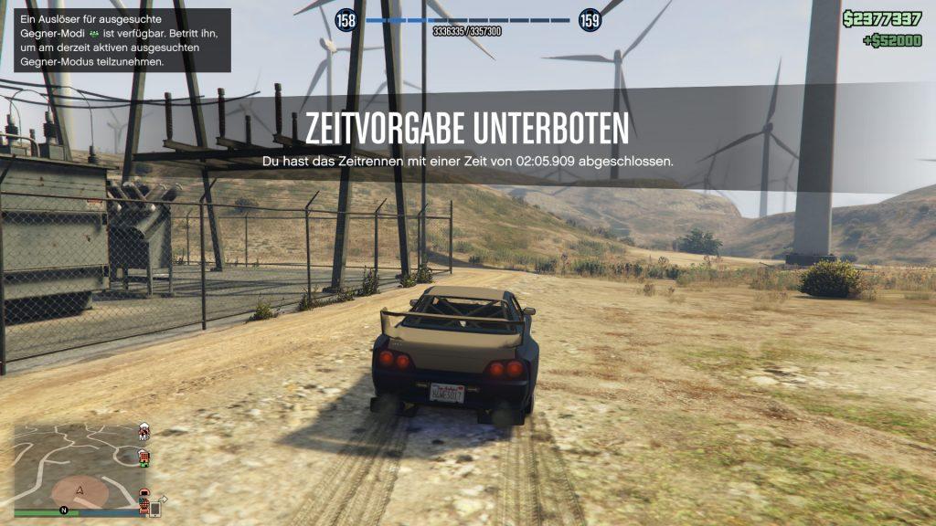GTA Online Zeitrennen geschafft