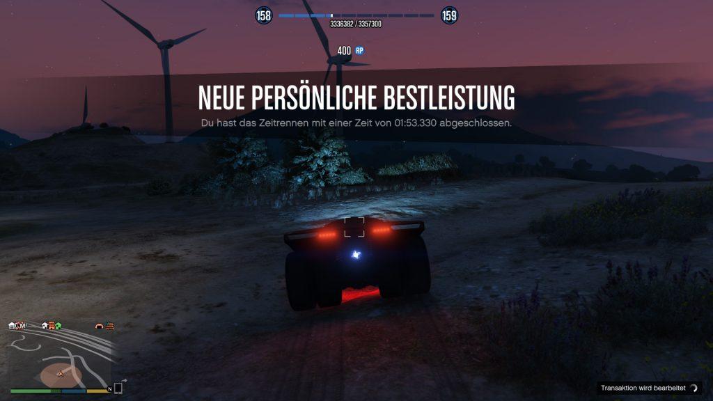 GTA Online Zeitrennen geschafft schneller