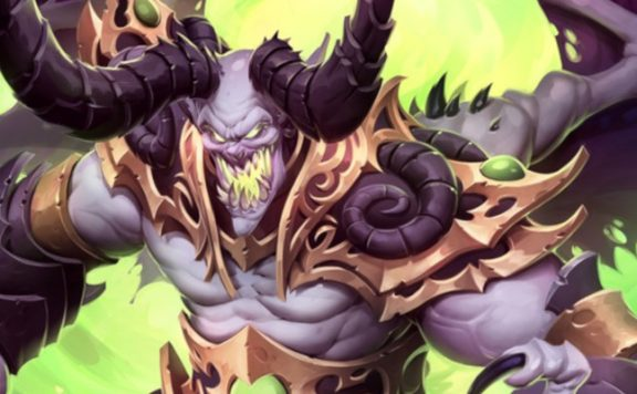 Hearthstone Demon Lord Artwork title