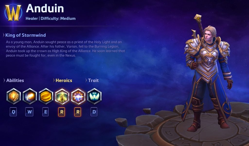 HotS Anduin Character Cheat Ingame