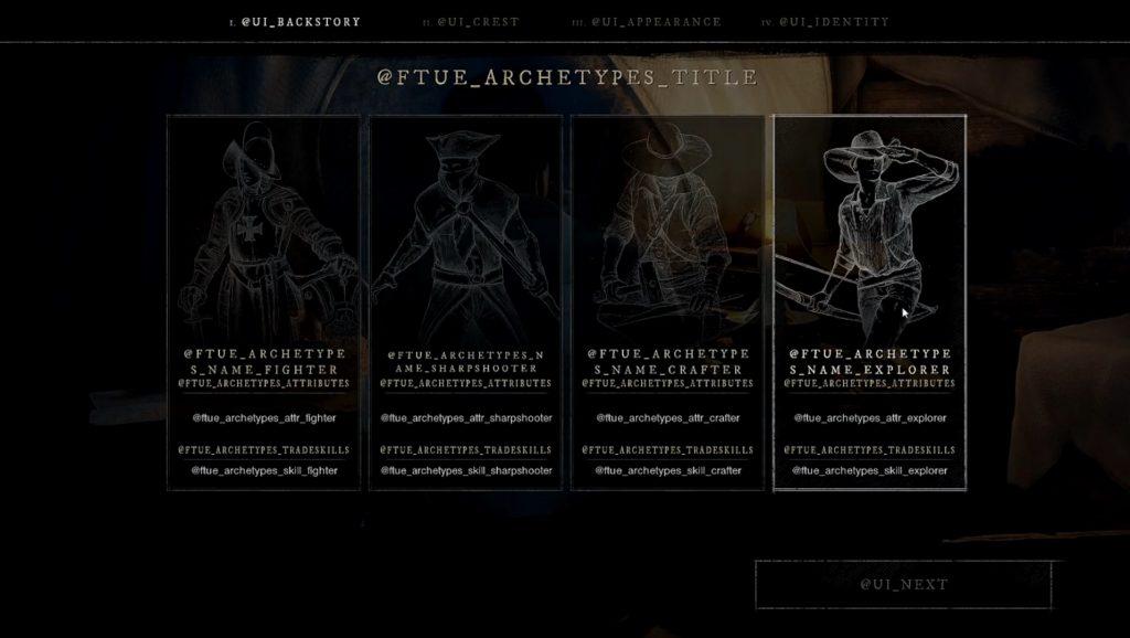 Die vier Charaktertypen in New World aus der Alph