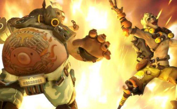 Overwatch Junkrat und Roadhog explodieren in Junkertown Titel