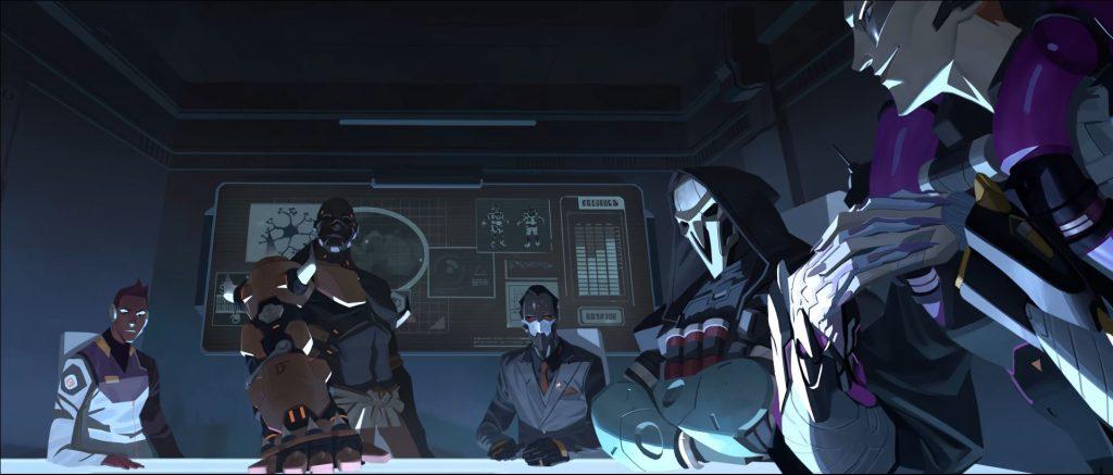Overwatch Moira Story Maximilien im Hintergrund