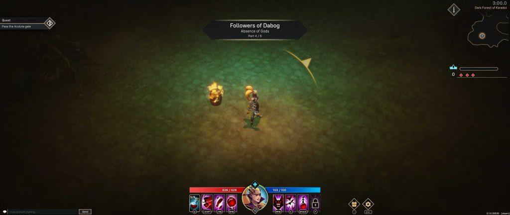 Pagan Online Screenshot gelber PFeil