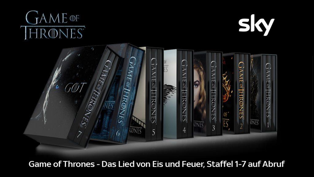 In Eurem Sky Abo sind alle Staffeln von Game of Thrones enthalten.