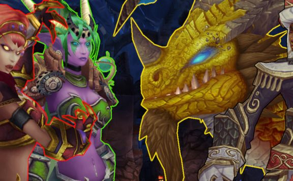 WoW Dragon title ysera alexstrasza wrathion nozdormu 1140x445