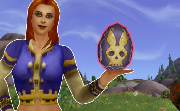 WoW Easter Egg Human Female Holding Egg title 1140x445
