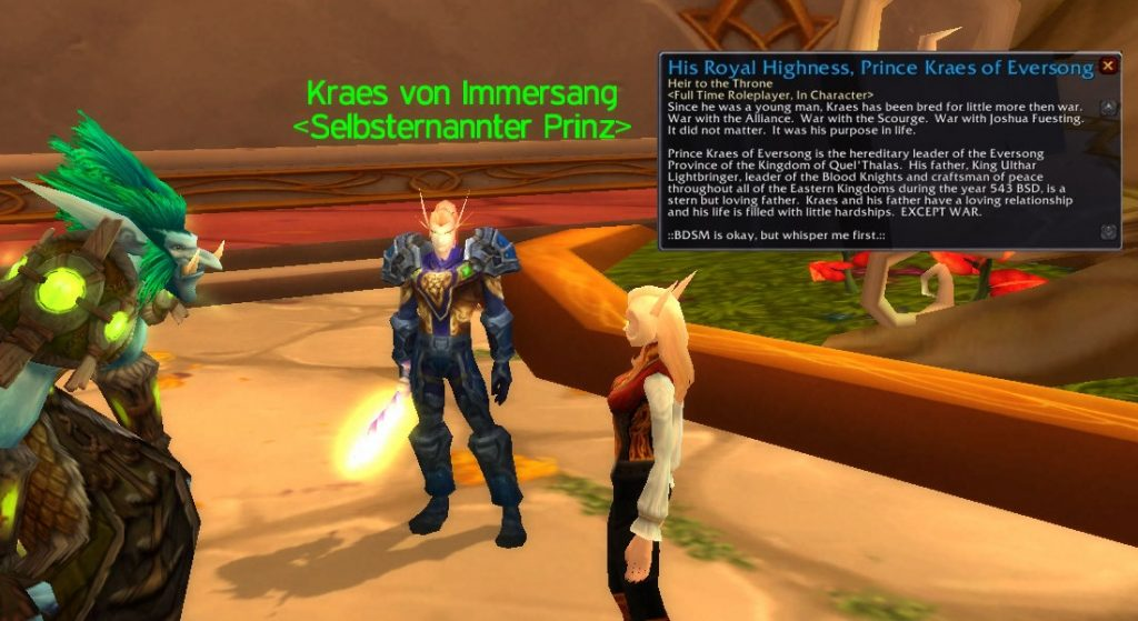 WoW Easter Egg Kraes of Eversong