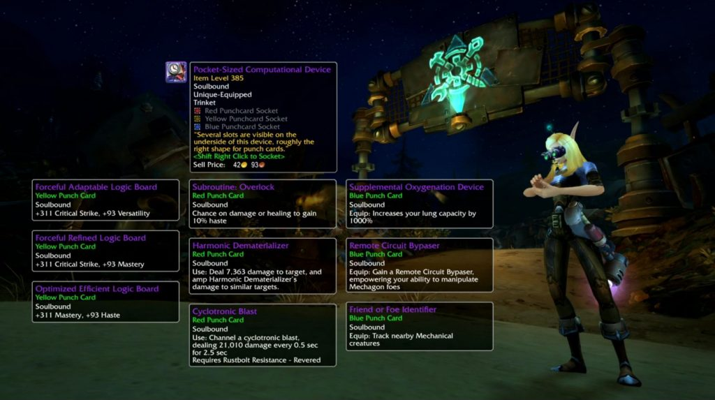 WoW Mechagon Trinket Custom