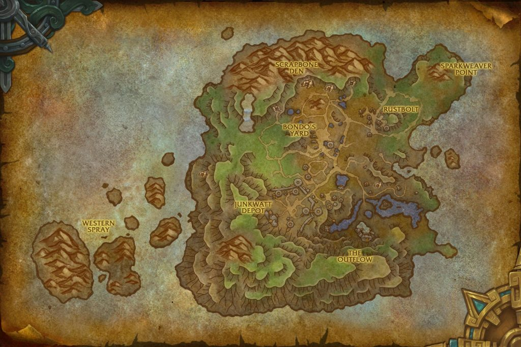WoW Mechagon Zone Map