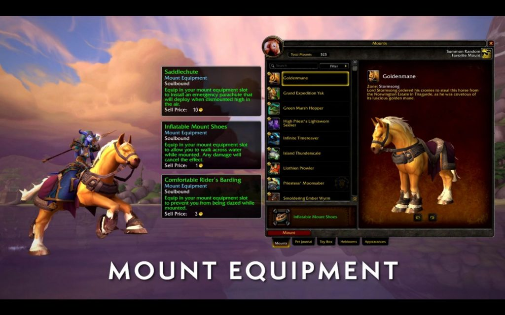 WoW Mount Equipment Items