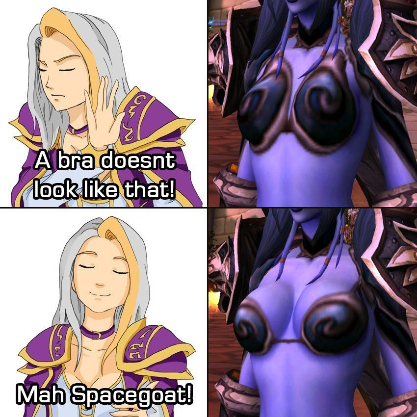 WoW Spacegoat Meme Bra
